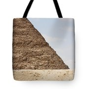 Great Pyramid Of Khufu Cheops And Camel Tote Bag