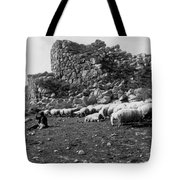 Great Tower Of Tiryns - Greece - Birthplace Of Hercules Tote Bag