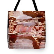 Great Wall Of Petra Jordan Tote Bag by Eva Kaufman