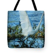 Great White And Blue Tote Bag