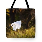 Great White Egret Flight Series - 5 Tote Bag