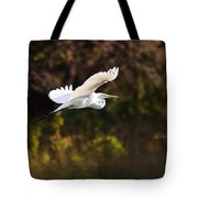 Great White Egret Flight Series - 6 Tote Bag
