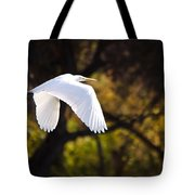 Great White Egret Flight Series - 7 Tote Bag