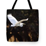 Great White Egret Flight Series - 8 Tote Bag