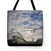 Great White Roller Coaster - Adventure Pier Wildwood Nj At Sunrise Tote Bag