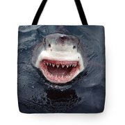 Great White Shark Smile Australia Tote Bag by Mike Parry