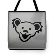 Greatful Dead Dancing Bear In Black And White Tote Bag