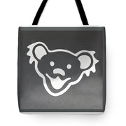 Greatful Dead Dancing Bear In Negative Tote Bag