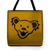 Greatful Dead Dancing Bear In Orange Tote Bag