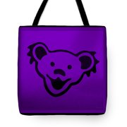Greatful Dead Dancing Bear In Purple Tote Bag