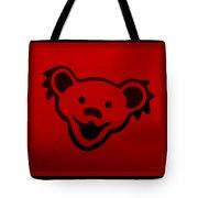 Greatful Dead Dancing Bear In Red Tote Bag