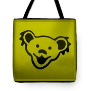 Greatful Dead Dancing Bear In Yellow Tote Bag