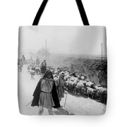 Greece Shepherds And Flocks - C 1909 Tote Bag by International  Images