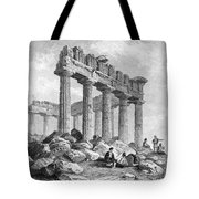 Greece: The Parthenon 1833 Tote Bag by Granger