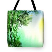 Green 1 Tote Bag