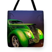 Green 37 Ford Hot Rod Decked Out For A Tropical Saint Patrick Day In South Texas Tote Bag