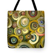 Green Abstract Feeling Tote Bag