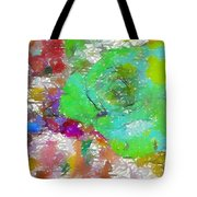 Green Abstract Rose Tote Bag