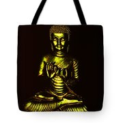 Green And Gold Buddha Tote Bag