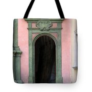Green And Pink Doorway In Krakow Poland Tote Bag