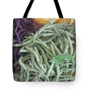 Green And Purple Beans Tote Bag