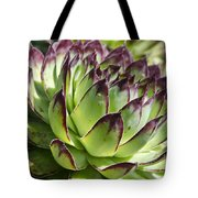 Green And Red Succulent Tote Bag
