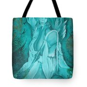Green Angel Tote Bag