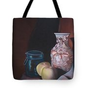 Green Apples On Sepia Tote Bag