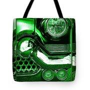 Green Chrome Tote Bag