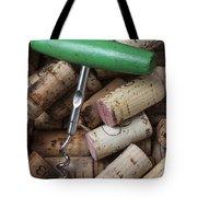 Green Corkscrew Tote Bag