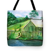 Green Cottage Tote Bag