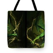 Green Dragon - Gently Cross Your Eyes And Focus On The Middle Image Tote Bag