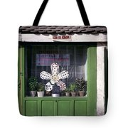 Green Facade With Buttons. Belgrade. Serbia Tote Bag