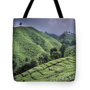 Green Fields On Hills Tote Bag