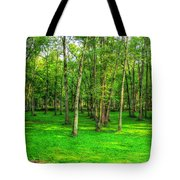 Green Floored Forest Tote Bag
