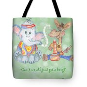 Green For Peace Tote Bag