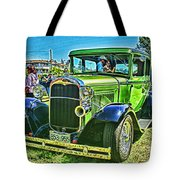 Green Ford Street Rod Hdr Tote Bag