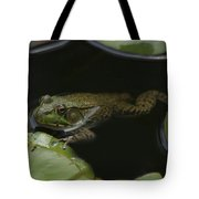 Green Frog And Lily Pads 9613 Tote Bag
