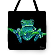 Green Ghost Frog Tote Bag