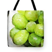 Green Grapes On A Plate Tote Bag