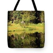 Green In Summit Lake Tote Bag