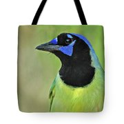 Green Jay Portrait Tote Bag