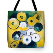 Green Jug With Round Flowers Tote Bag