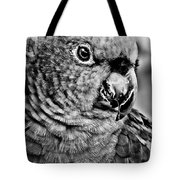 Green Parrot - Bw Tote Bag