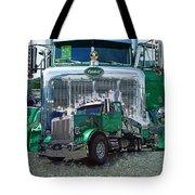 Green Peterbilt Dbl. Exposure Tote Bag
