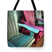 Green Red Overhead Tote Bag