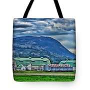 Green Roofed Barn-hdr Tote Bag