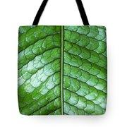 Green Scaly Leaf Pattern Tote Bag