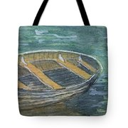 Green Sea My Boat And Me Tote Bag