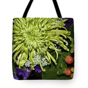 Green Spider Mum Tote Bag